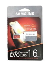 Samsung EVO+ 16GB Micro SD SDHC Card Adapter for Galaxy J1/J3/J5/J7,Note 4/3/2