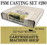 Cartwright's Machine Shop #280 FSM METAL DETAIL CASTINGS Fine Scale Miniatures