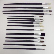 12pc Artists Paint Brush Set Fine Sizes Hobbies Crafts Model Making Brushes Kit