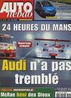 AUTO HEBDO n°1295 du 20 Juin 2001 24h du MANS AVANTIME ACROPOLE