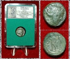 Ancient Greek Coin Thrace Maroneia Dionysos On Obverse And Reverse