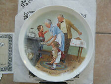 """Cookie Tasting"" Collector Plate~3rd issue Csatari Grandparent Series~Knowles"