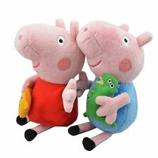 Peppa pig kids boy george and girl peppa 2pc 19cm W/ keychain  USA