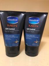 2 Men Oil Control Vaseline Facial Wash Face Visibly Fairer  Volcanic Clay 100g