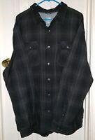 Men's The North Face LS Alpine Zone Shirt XXL Asphalt Grey Plaid Cotton
