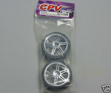 Cpv racing 813217S 1:10 rc voiture roues (1 Pair) double spoke chrome wheels neuf