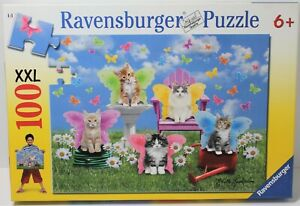 RAVENSBURGER PUZZLE KITTY WINGS CATS 100 XXL PIECES 106844 2012 GERMANY COMPLETE