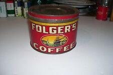 FOLGER'S COFFEE  Vintage  TIN