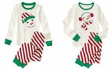 NWT Gymboree JOLLY CUTE SNOWMAN 2014 Christmas/Holiday Pajamas/Gymmies Boy/Girl