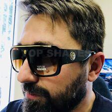 Men Sunglasses Hip Hop New Big Fashion Design Women Black Brown Lens Kleo Square