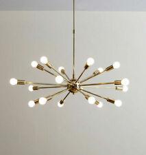 Mid Century Brass Chandelier 15/18/24 Arms Modern Pendant Lamp Ceiling Lighting