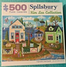 Cupcakes And Quilts Spilsbury Jigsaw Puzzle Kim Leo Collection 500 piece 18 x 24
