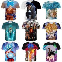 Dragon Ball Super Saiyan Z DBZ Goku 3D Print T-Shirt Mens/Womens Casual Tee Tops