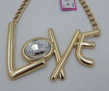 Betsey Johnson Trolls Gold Tone LOVE 16¨ Adjustable Necklace NWT