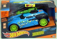 Hot Wheels Master Blaster Turbo Turret Blue Light & Sound Effects NIP
