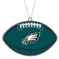 Philadelphia Eagles Metal Flat Football Christmas Tree Holiday Ornament New Logo