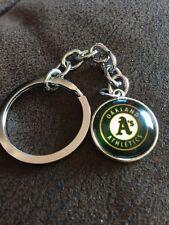 OAKLAND ATHLETICS Baseball MLB Iconic Logo Metal Key Ring Unique Raised Front