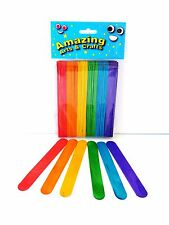Amazing Arts and Crafts Jumbo Lolly Lollipop Craft Sticks 60pcs Asst Colours