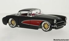 Chevrolet Corvette matt-schwarz/rot 1957 1:24 JADA