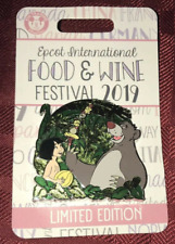 Disney Food & Wine Festival Jungle Book Pin Le 4000 2019 Baloo Mowgli Wdw And