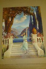 R ATKINSON FOX PRINT - A CALL OF YOUTH - FANTASY LADY ART DECO - 1920S -ORIGINAL