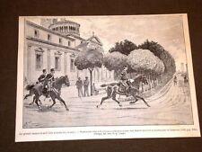 Manovre militari in Lombardia del 1885 Pattuglia del Tenente Gatti Saronno