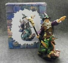 Myths & Legends 9 Inch Wizard With Dragon Statuette Collectable Medieval Figure