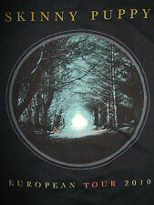 SKINNY PUPPY European Tour 2010 ORIGINAL T-Shirt LADIES L Electro-Industrial EBM