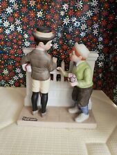 "Norman Rockwell Danbury Mint Porcelain Figurine ""The Rivals"" 1980"