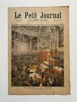Supplément Illustré Le Petit Journal 23/12/1893, N°161, DYNAMITE A LA CHAMBRE