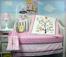 SoHo Pink Cherry Tree Baby Crib Nursery Bedding Set 4 pcs + 4 pcs Diaper Bag set