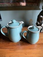 Denby Manor Green Coffee Pot And Hot Water Pot  Stonewear (c4)