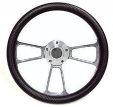 "Kubota, Tomberlin Golf Cart 14"" Black Carbon Fiber Steering Wheel + Adapter"