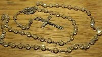 Vintage Sterling Silver Roma Cross ROSARY BEADS
