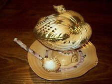 Clam Shell Soup Tureen  gold trim  Limoges type scallop shell