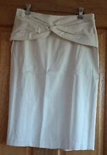 NEW VERONIKA MAINE Cream A-Line Skirt - Size 10