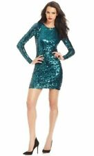 FRENCH CONNECTION LUST OCEANDEEP GREEN SEQUIN PARTY DRESS SIZE 6