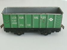 Vintage Marx O Gauge High Side Green Lehigh Valley Gondola - Good Condition.