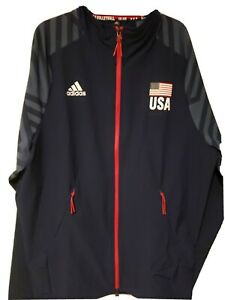 Adidas USA Volleyball Limited Edition Warmup Jacket Men's Size M $100+ retail