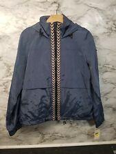 Womens Lucky Brand Rain Jacket Blue Zip Up New Medium 129$  #X