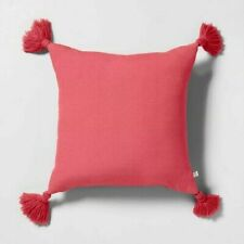 Hearth and Hand with Magnolia Decorative Throw Pillow Pink WithTassels