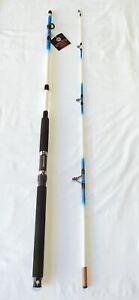 Classic Nite Stick Catfish Spinning Rod 8' 2PC Glow Tip Blue