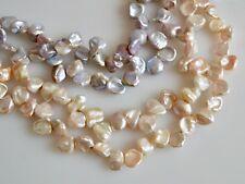 10-11x12-16mm Freshwater Keishi Pearl Cornflakes Shape Pink & Mauve Color #894