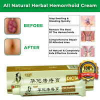 NEW ALL NATURAL HERBAL HEMORRHOID CREAM INTERNAL PILES EXTERNAL ANAL FISSURE OIL