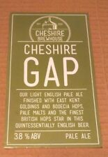 Beer pump badge clip CHESHIRE BREWHOUSE brewery GAP cask ale pumpclip front