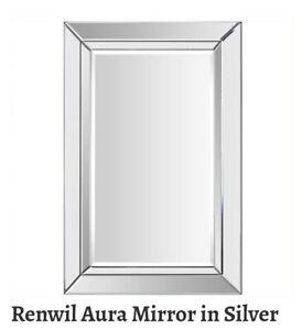 Renwil MT1286 Aura Wall Mounted  Mirror_Silver 35in x 24in, Beautiful! 🆕️⭐