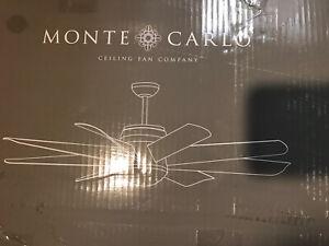 Monte Carlo Fans 8TNR56BKD Turbine 8 Blade 56 Inch Ceiling Fan NEW~Low Price
