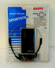 Nos Sealed Sanyo Sportster Rp 42 Fm Stereo / Am Radio Gray (Please Read)