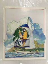 Vintage Corona Beer Jimmy Buffet Sailboat Poster 1986