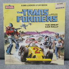 A Big Looker Storybook - The Transformers The Great Car Rally - Vintage 1984